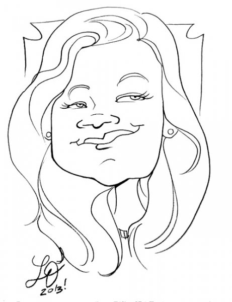 Lauren Davis Party Caricature