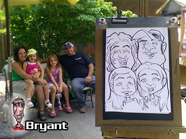 Bryant Garten Party Caricature