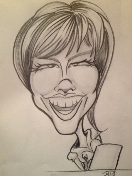 Meagan Tron Party Caricature