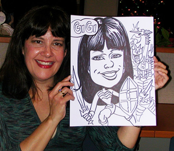 Bill Wylie Party Caricature