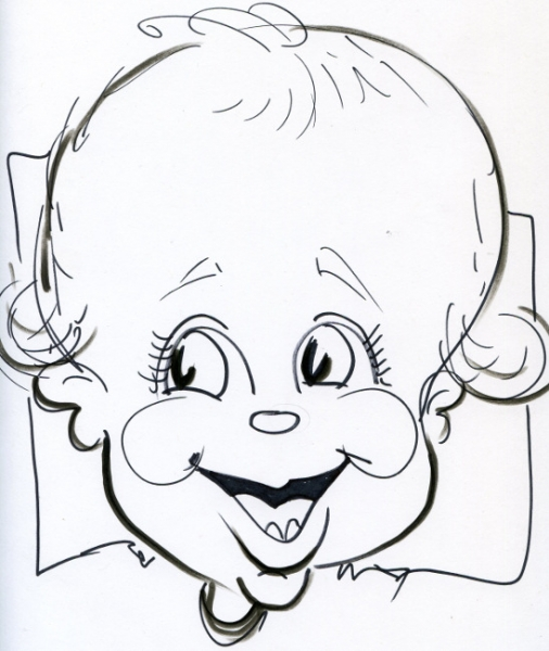 Bill Crowley Party Caricature