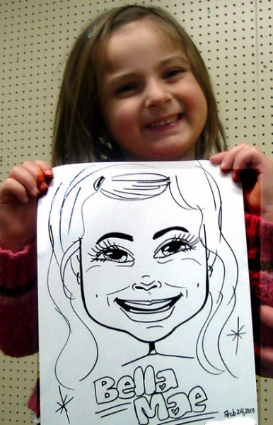 Carol Forsythe Party Caricature