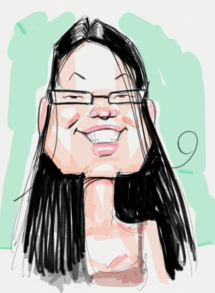 Ed Steckley Digital Party Caricature