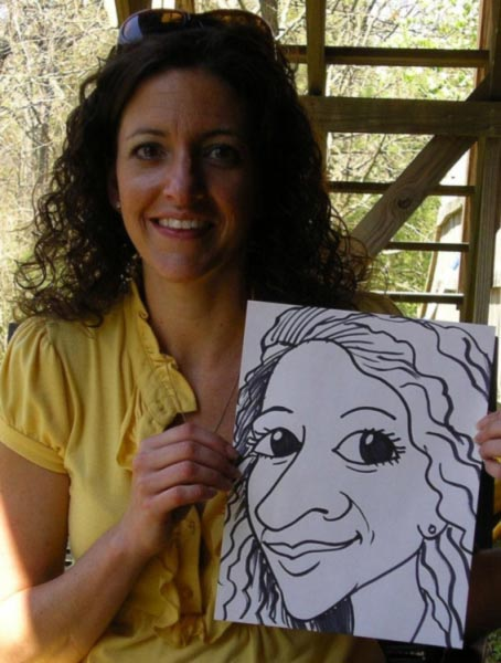 Party Caricature by Ed Abernathy