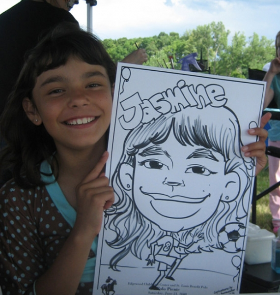 Debbie Burmeister Party Caricature