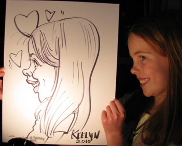 Suzanne Berry Party Caricature