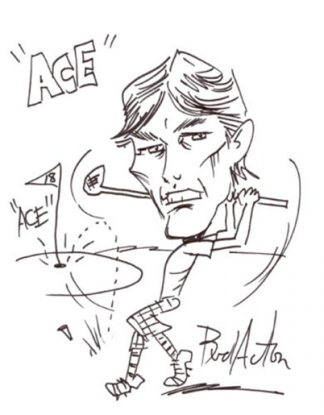 Party Caricature by Bud Acton