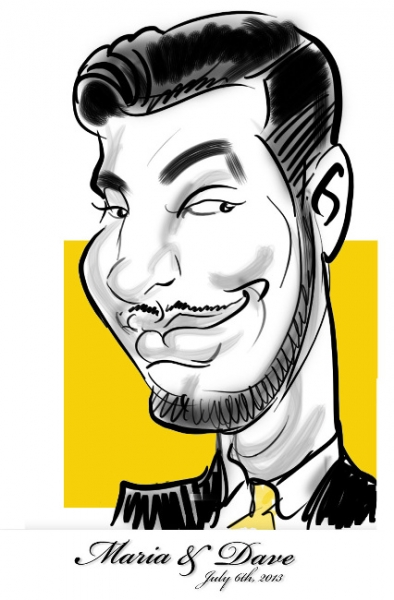 Ray Russotto Digital Party Caricature
