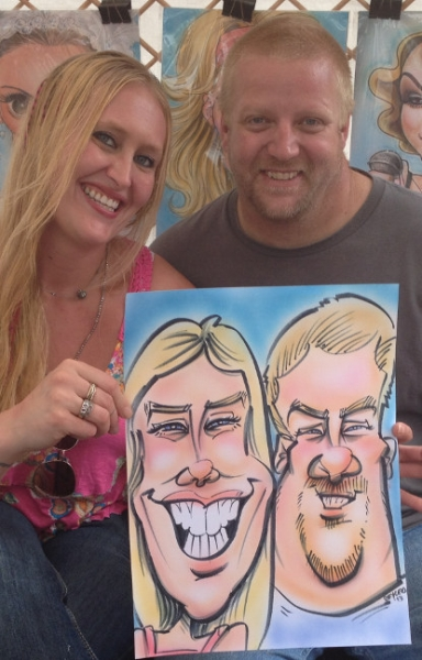 Bryce Davidson Party Caricature