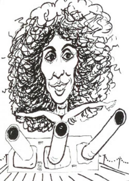 Cher Caricature by Bud Acton