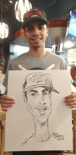 Chuck Carter Party Caricature