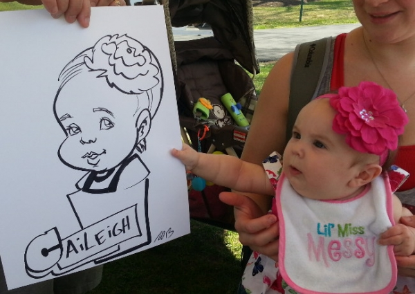 Mike Garibay Party Caricature