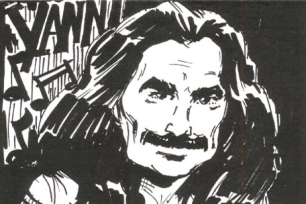 Yanni Caricature by Bud Acton