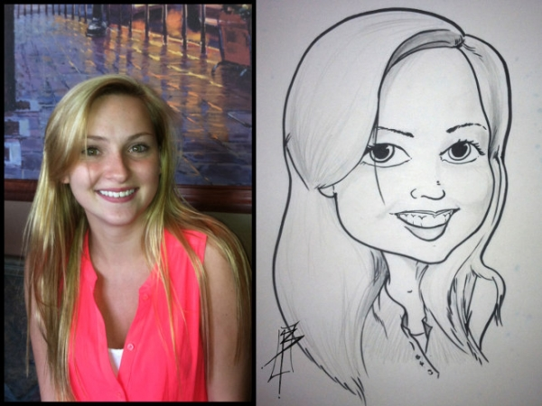 Lee Lacy Party Caricature