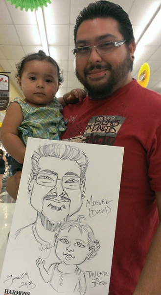 V Kenneth Jackson Party Caricature