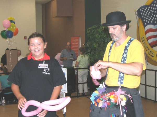 Balloon Sculptor Thad James Sammy J