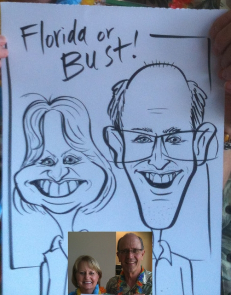 Jon Huckeby Party Caricature
