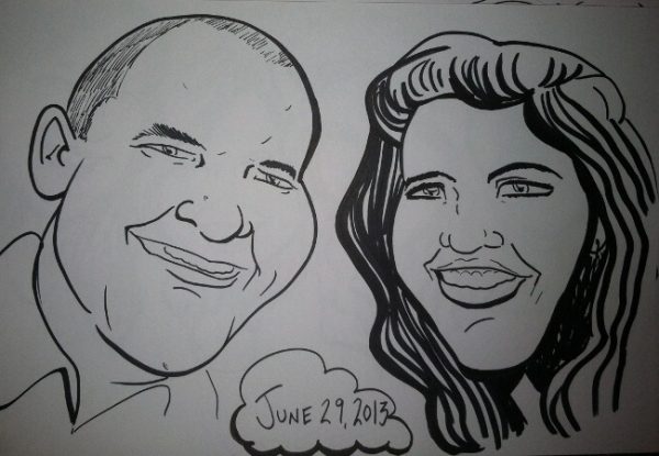 Kristen Lohman Party Caricature