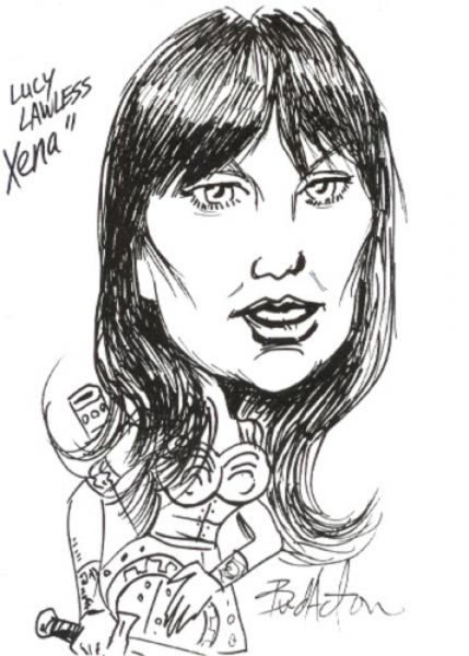Xenna Caricature by Bud Acton