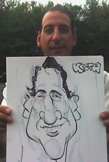 Mike Edwards Party Caricature