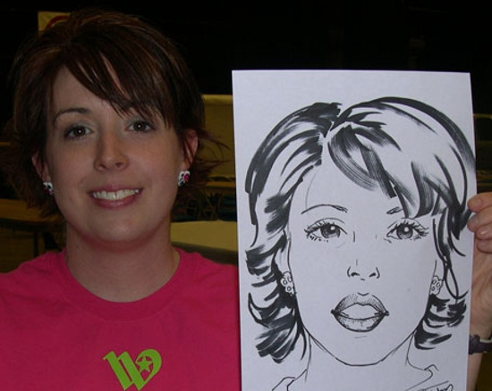Paula Tabor Party Caricature