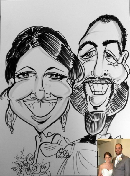 Stephanie Ong Party Caricature