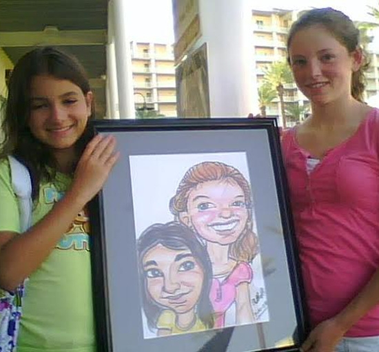 Ashley Rowland Party Caricature