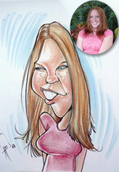 Party caricature by Alex Clare