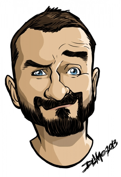 Rob Dumuhosky Digital Party Caricature