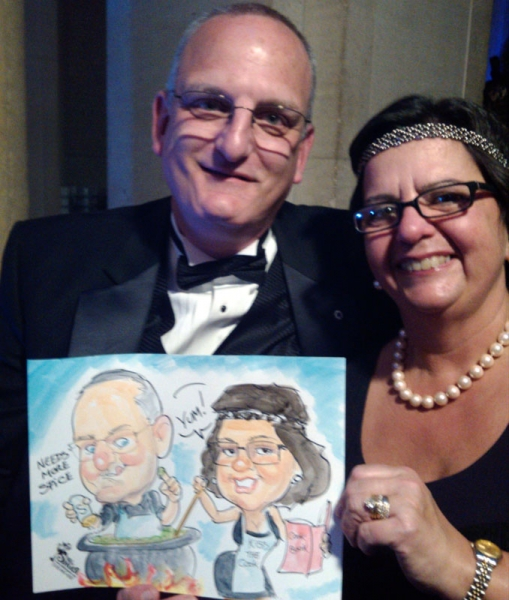 Phil Singer Party Caricature