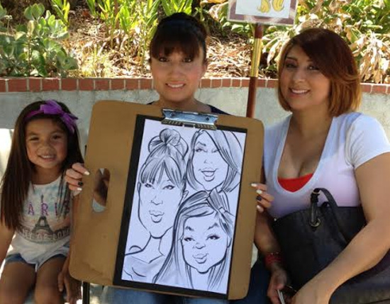 Cliff Bayuga Party Caricature