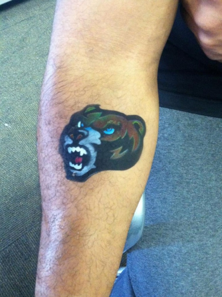 airbrush tattoo by Michele Moore