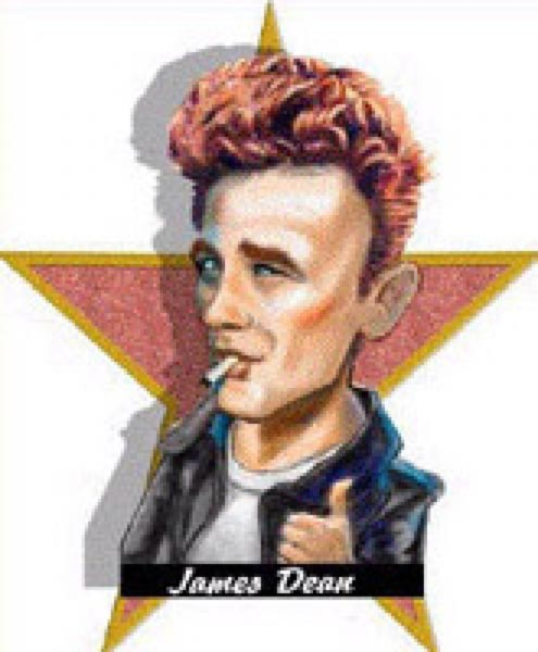 James Dean caricature by John Alex