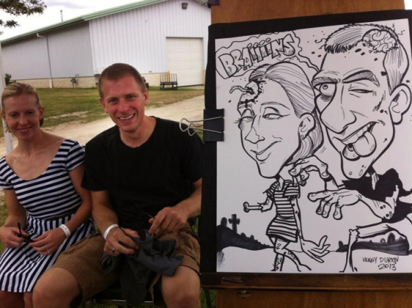 Kenny Durkin Party Caricature
