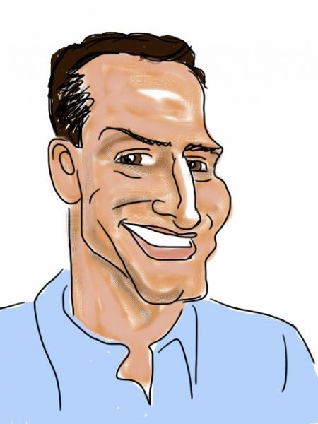John Doherty Digital Party Caricature