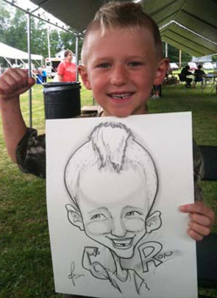 Eric Jones Party Caricature