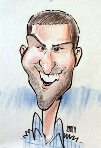 Derek Brennan Party Caricature