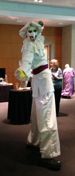 image of stilt walker Tim Marrone