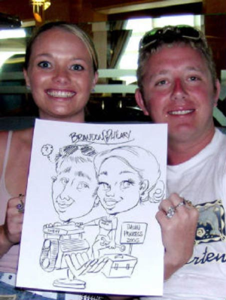 Party caricature by John Alex