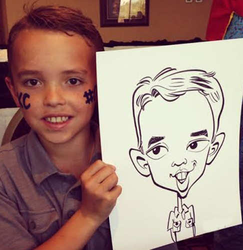 Lance King Party Caricature