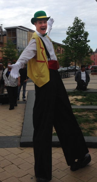 stilt walker tim marrone