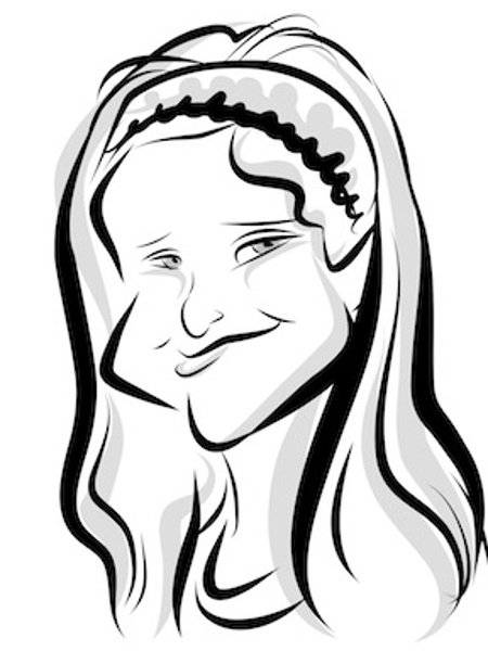 Jeanette Madden Digital Party Caricature