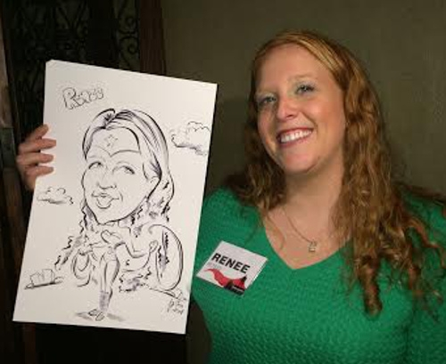 Yvonne Beer Party Caricature