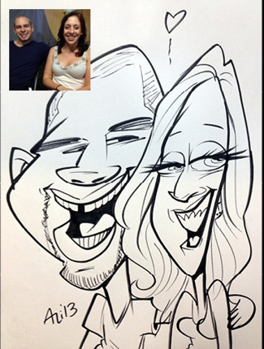 Ali Thome Party Caricature