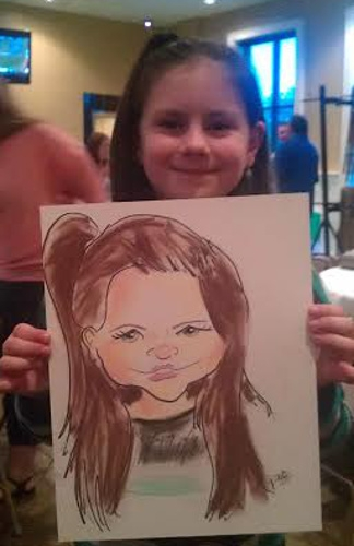 Jared Hogue Party Caricature