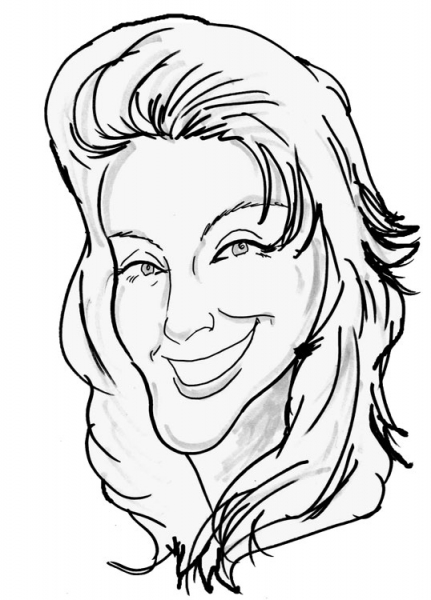 Jody Morse Party Caricature