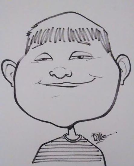 David Cook Party Caricature