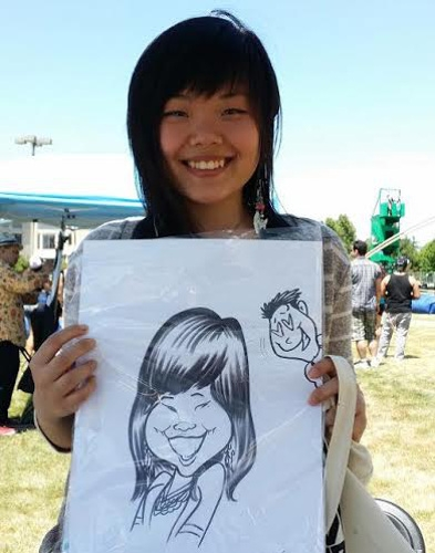 Shannon Bird Party Caricature