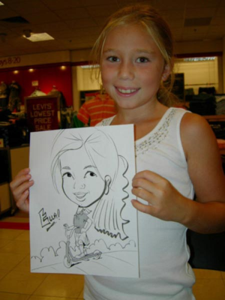 Party caricature by Deb Allen