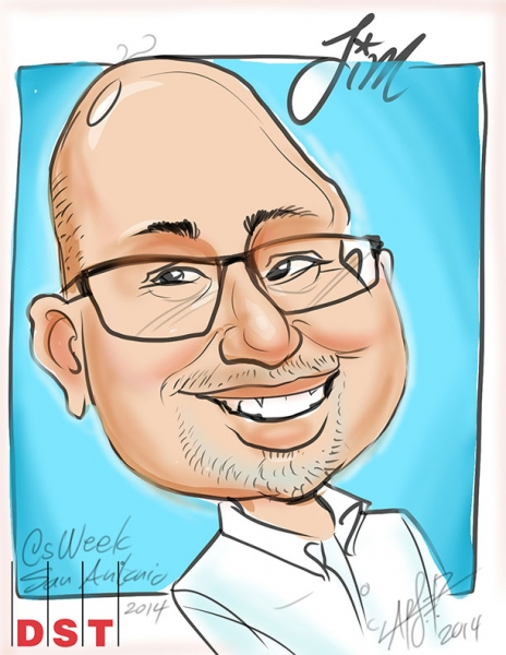 Lars Erik Robinson Digital Party Caricature